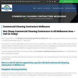 Cheap Commercial Cleaning Contractors Melbourne - Hire Best Cleaners!