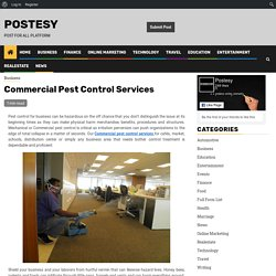 Commercial Pest Control Services - Postesy