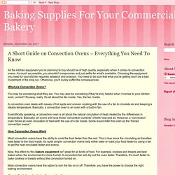 Baking Supplies For Your Commercial Bakery: A Short Guide on Convection Ovens – Everything You Need To Know