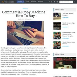 Commercial Copy Machine – How To Buy