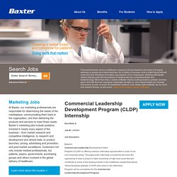 United States Commercial Leadership Development Program (CLDP) Internship Jobs at Baxter