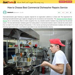 Best Commercial Dishwasher Repairs Service