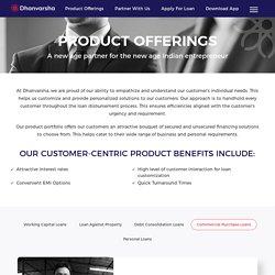 Commercial Loan Companies – Dhanvarsha Finvest Limited (DFLTD)