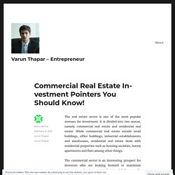Commercial Real Estate Investment Pointers You Should Know!