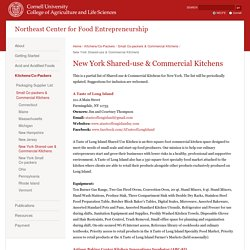 Northeast Center for Food Entrepreneurship