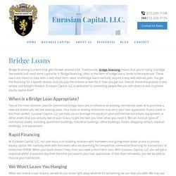Bridge & Commercial Bridge Loans