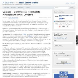 Valuate – Commercial Real Estate Financial Analysis, Levered