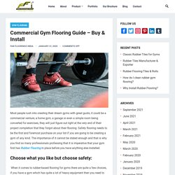 Commercial Gym Flooring Guide to Buy & Install
