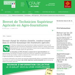 BTSa Technico-commercial en Agro-fournitures