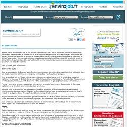 Commercial H/F - Envirojob.fr