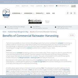 Benefits of Commercial Rainwater Harvesting