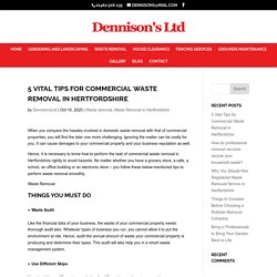 5 Vital Tips for Commercial Waste Removal in Hertfordshire