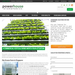 4 Commercial Vertical Farms Worth Your Attention