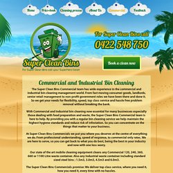 Commercial & Industrial Waste Container and Bin Cleaning Perth
