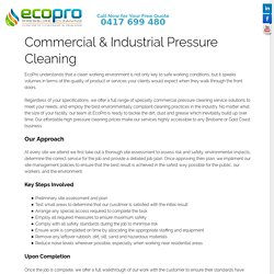 Commercial & Industrial Pressure Cleaning