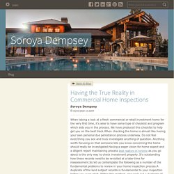 Having the True Reality in Commercial Home Inspections - Soroya Dempsey : powered by Doodlekit