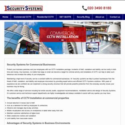 Commercial CCTV & Security System Installation for Business, London
