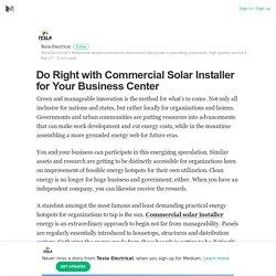 Do Right with Commercial Solar Installer for Your Business Center