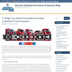 6 Things You Should Know Before Buying Commercial Truck Insurance