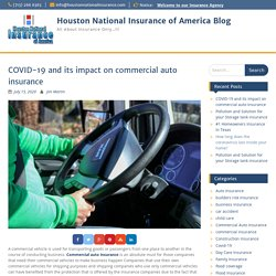 COVID-19 and its impact on commercial auto insurance