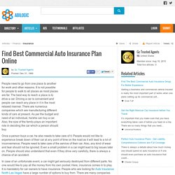 Find Best Commercial Auto Insurance Plan Online
