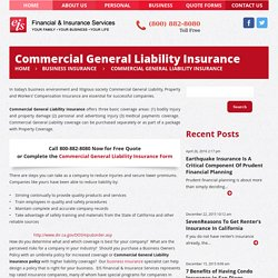 Commercial General Liability InsuranceFinancial Advisor