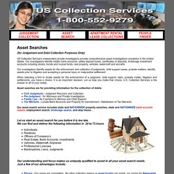 Private & Commercial Investigator Asset Search in USA