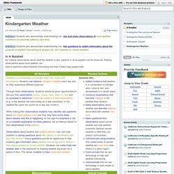 OKSci Framework [licensed for non-commercial use only] / Kindergarten Weather