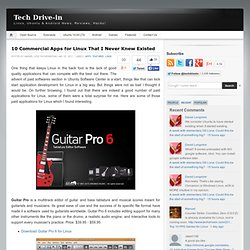 10 Commercial Apps for Linux That I Never Knew Existed