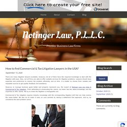 How to find Commercial & Tax Litigation Lawyers in the USA?
