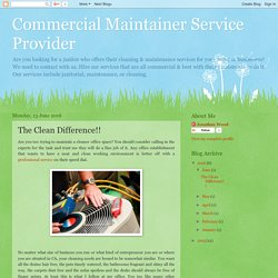 Where Is The Best Commercial Maintenance Service Concord?