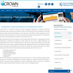 Commercial Strata Management in Parramatta Sydney