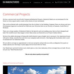 Commercial/Industrial Shed Projects - Factory at Yamanto, Brisbane