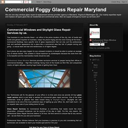Insulated Glass Replacement Washington DC