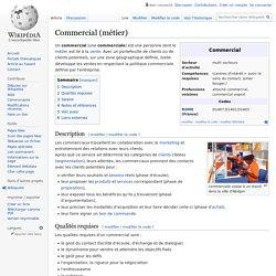 DOC 4 :Commercial (métier)
