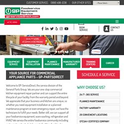 Food Equipment Service - General Parts