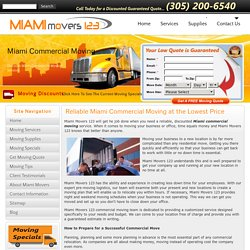 Office Moving Professional Miami Movers 123