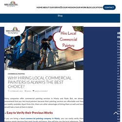 Why Hiring Local Commercial Painters is Always the Best Choice?