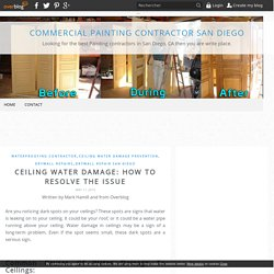 Ceiling Water Damage: How To Resolve The Issue - Commercial Painting Contractor San Diego
