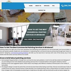 How To Get The Best Commercial Painting Services in Brisbane