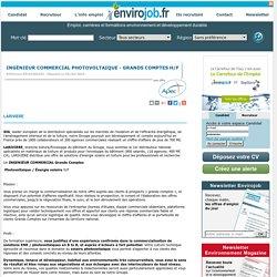 Ingénieur commercial photovoltaique - grands comptes H/F - Envirojob.fr