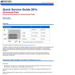 QSG 201c Commercial Flats - Physical Standards for Commercial Flats