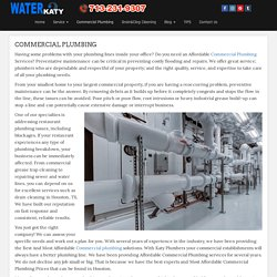 Commercial Plumbing Services Katy,Texas . Full Service Plumbing Katy,Texas