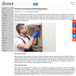 The Areas of Commercial Plumbing Services