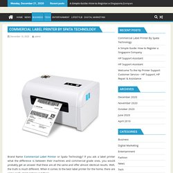 Commercial Label Printer By Spata Technology
