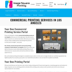 Commercial Printing Services in Los Angeles