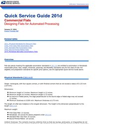 QSG 201d Commercial Flats - Designing Flats for Automated Processing