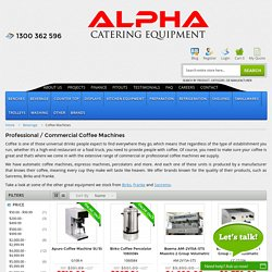 Shop Commercial Coffee Machines - Alpha Catering Equipment