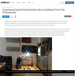 Commercial Sump Pump Services Akron Guidelines From The Professionals