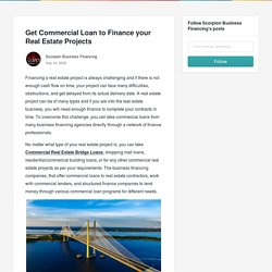 Get Commercial Loan to Finance your Real Estate Projects